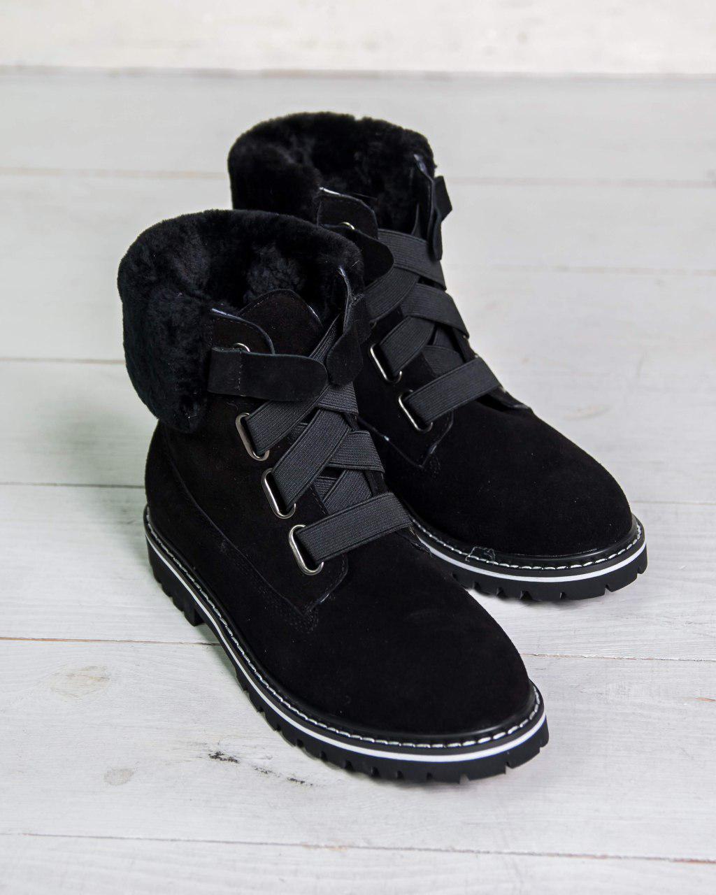 Женские ботинки UGG Australia D&K Sheepskin Black. Фото в живую. Реплика