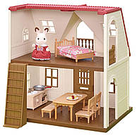 Домик Шоколадного Кролика, Дом Марии Sylvanian Families, Calico Critters Red Roof Cozy Cottage из США, фото 1