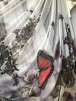 Тюль облегченный лён бабочки