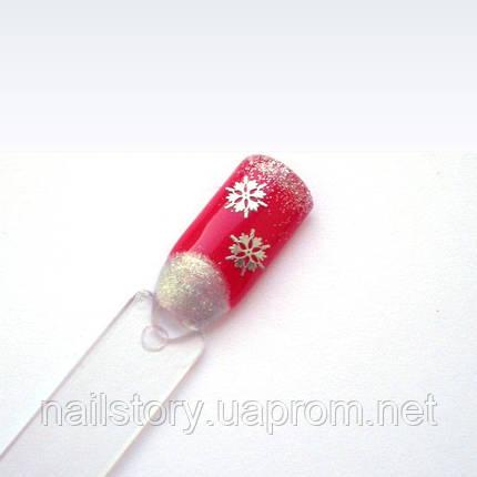 Металлические снежинки для ногтей, фото 2