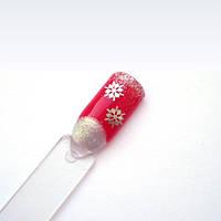 Металлические снежинки для ногтей