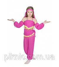 Костюм Восточный 5-9 лет. Детский новогодний карнавальный костюм Восточная красавица Малина 344, фото 3