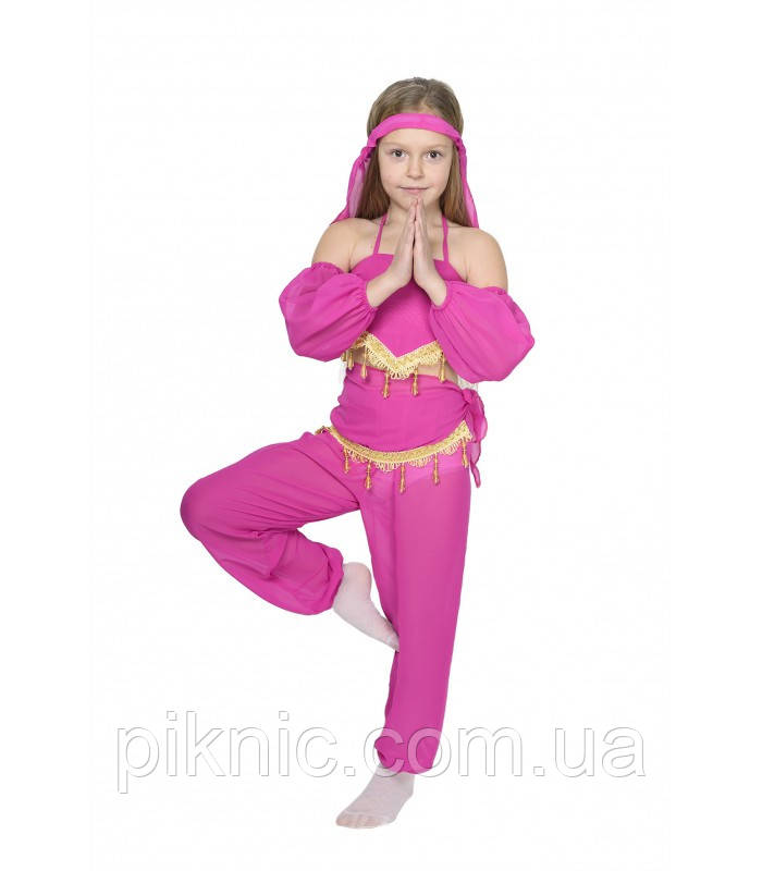 Костюм Восточный 5-9 лет. Детский новогодний карнавальный костюм Восточная красавица Малина 344