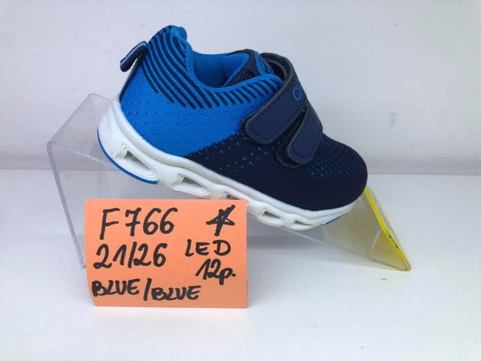 31f7c54eeec5f4 Детские LED кроссовки оптом Clibee F-766 blue/ blue (р.21-26) , цена ...