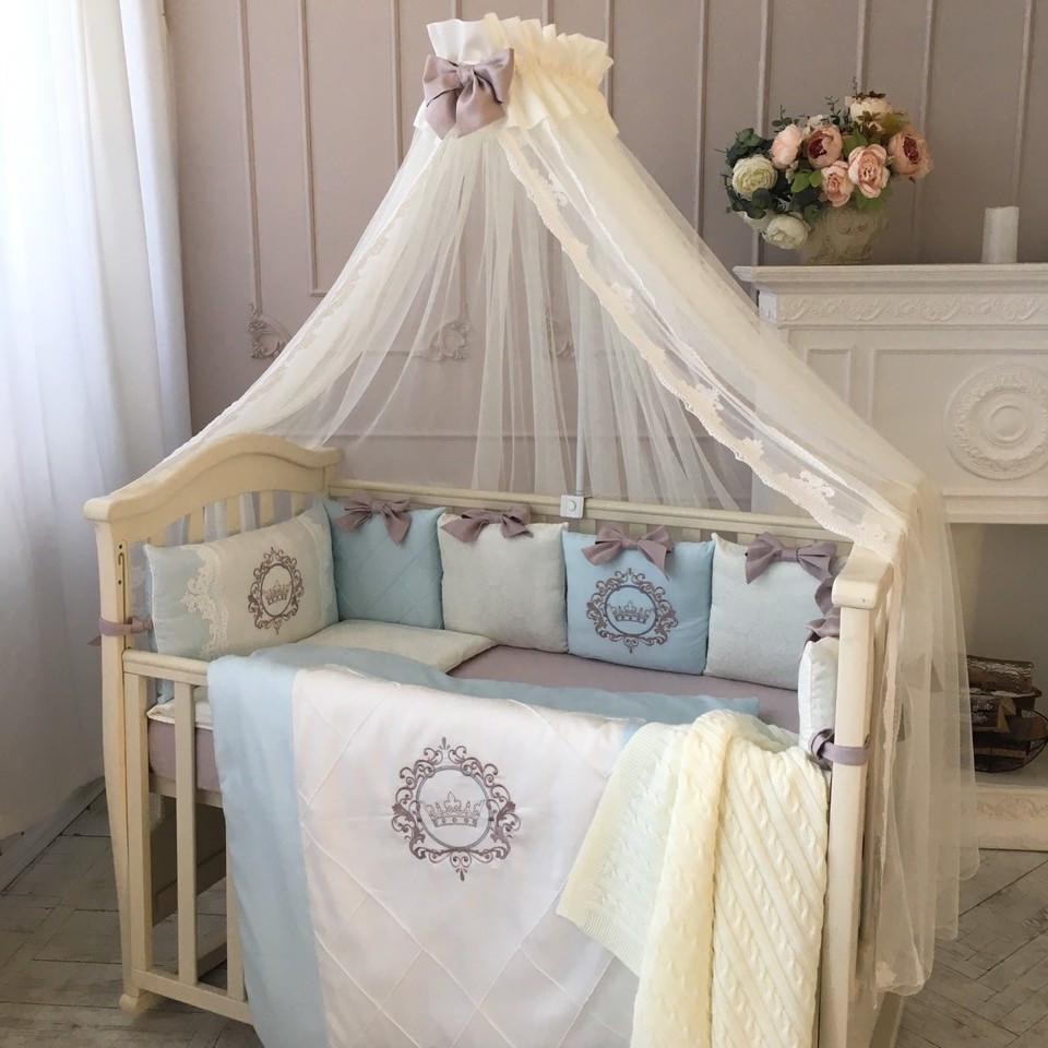 Комплект постельный детский Elegance голубой