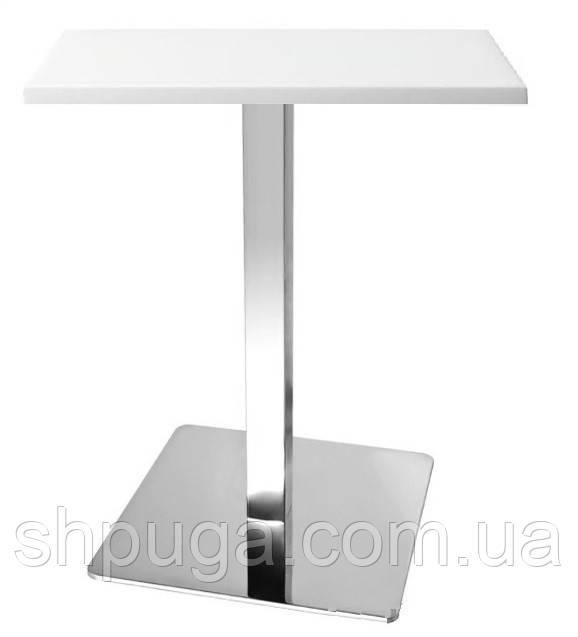 Стол барный Бали 2W, квадратный, белый, 70*70 см, высота 72 см