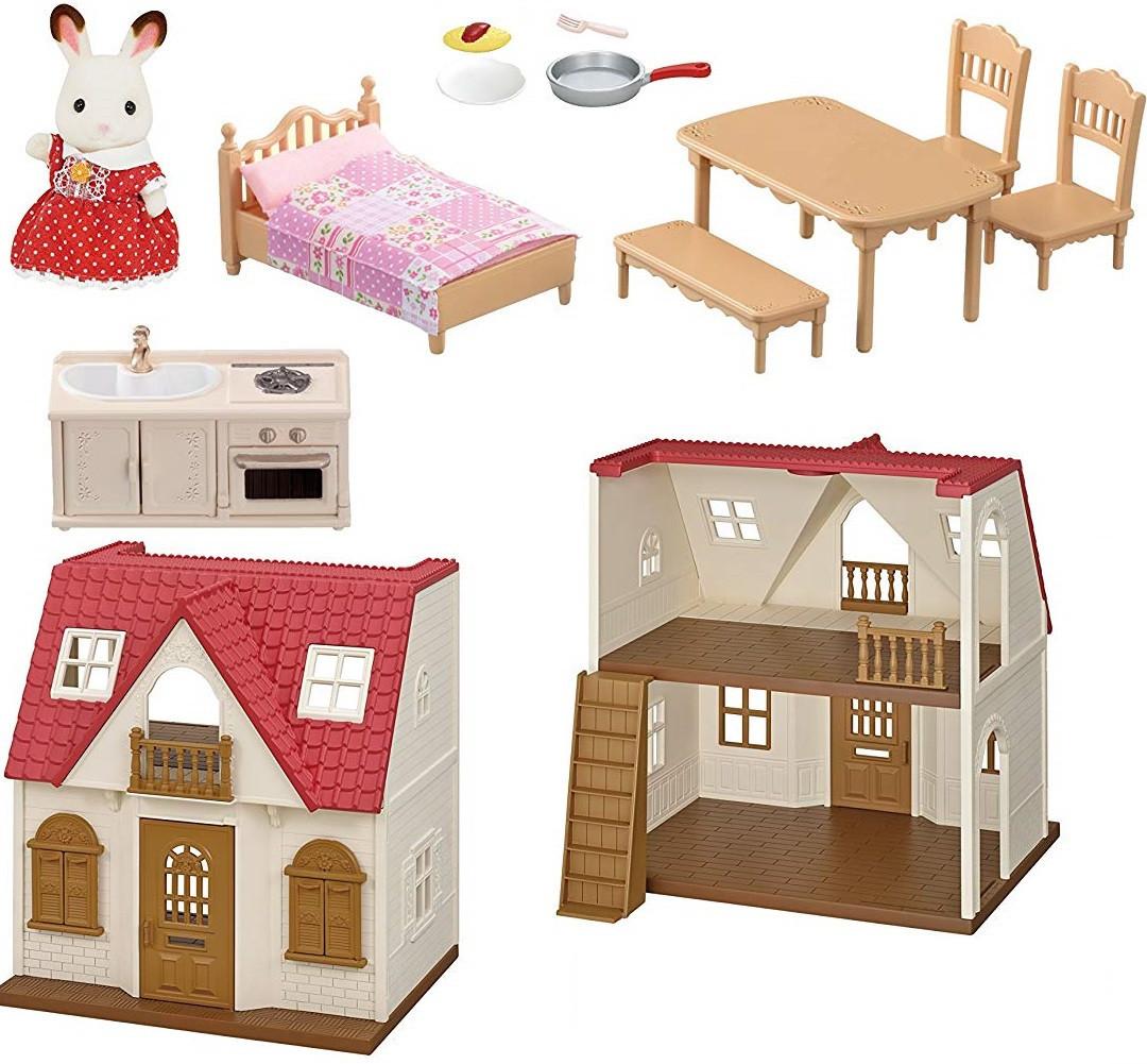 Sylvanian Families Домик кролика Марии, Calico Critters Red Roof Cozy Cottage из США