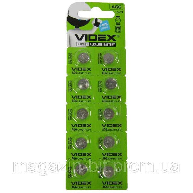 Батарейка Videx AG6 (LR921) цена за блистер