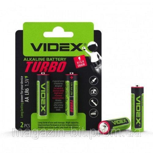 Батарейка Videx Turbo Alkaline LR6 (АА) цена за блистер