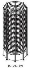 Электрокаменка Sawo TOWER HEATER ROUND  TH12-240N