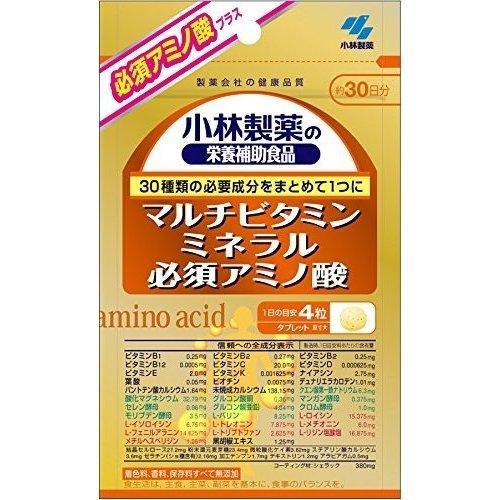 Японские Kobayashi Pharmaceutical  витамины, минералы, аминокислоты   120 таб по 360 мг. (на 30 дней)