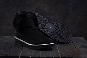 Ботинки Ugg (зима,замш, черный)