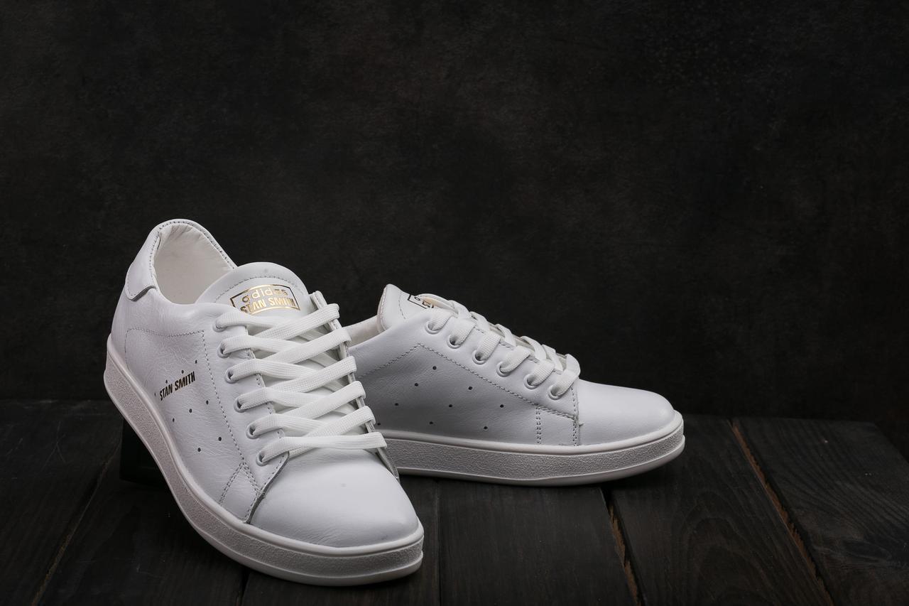 Кеды Yuves W 20 (Adidas Stan Smith) (весна/осень, женские, натуральная кожа, белый)