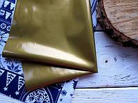 ЭКО-кожа Золото глянцевая на тканевой основе, 33х33см