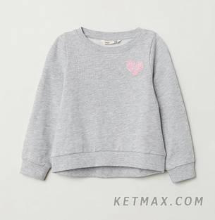 Утепленный свитшот H&M для девочки, фото 2
