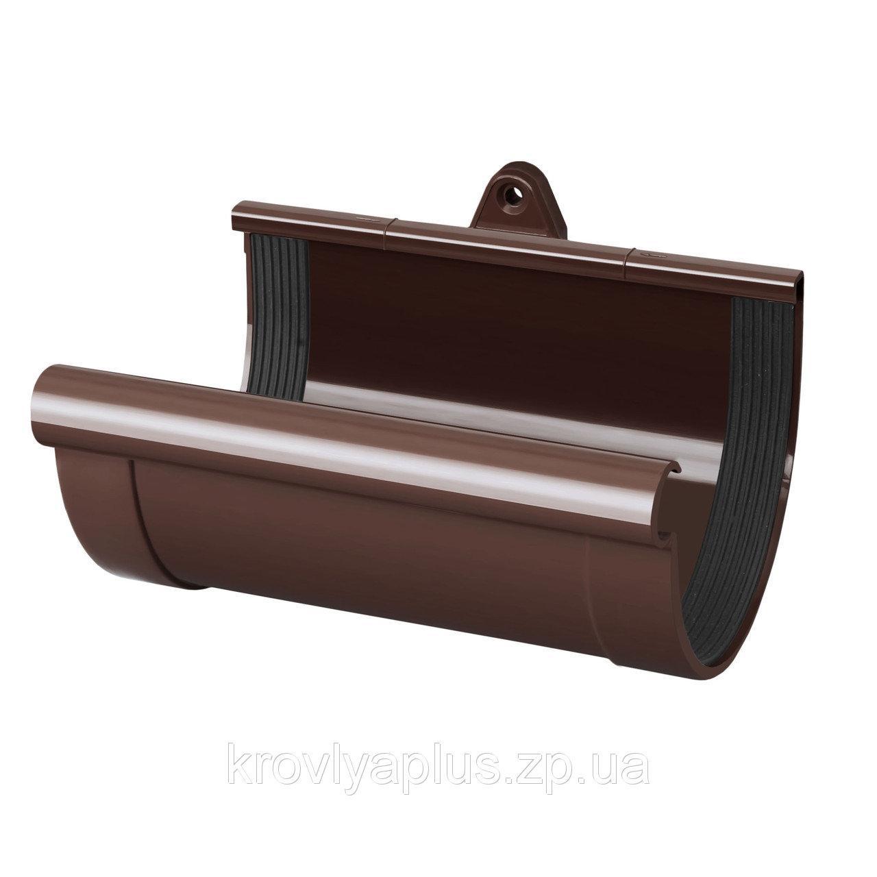 Муфта желоба RainWay 130 мм коричневый