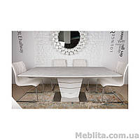 Стол Nicolas Baltimore HT2535 (160/210*90) керамика капучино/белый)
