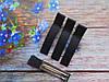 Металлическая заколка с репсовой лентой, 5 см., цвет черный