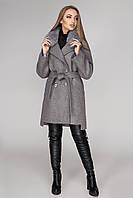 Женское зимнее пальто с натуральным мехом Альбина