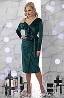 Бархатное платье изумрудного цвета, фото 1