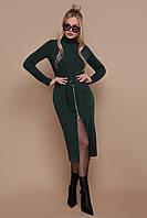 Теплое приталенное платье миди, фото 1