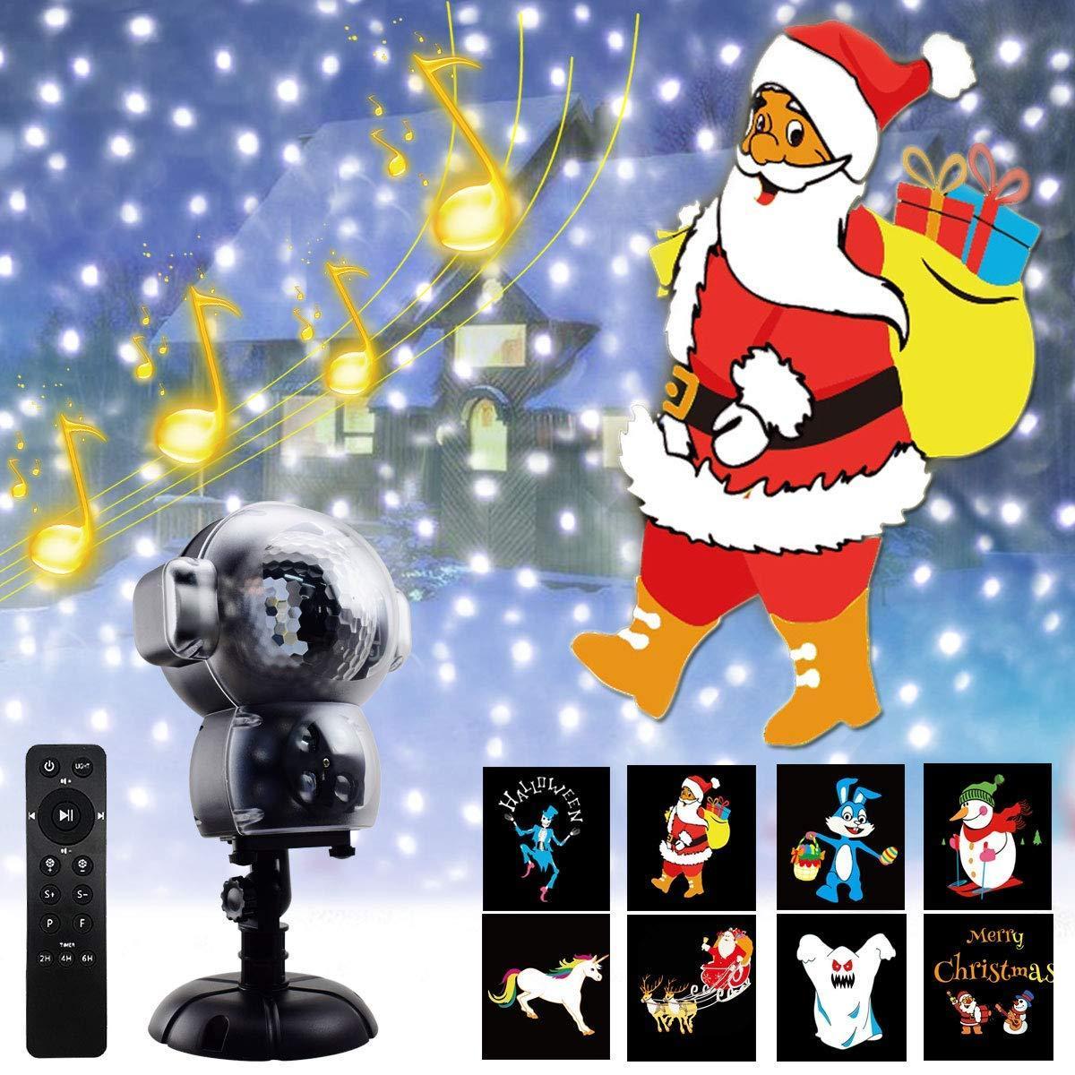 Рождественский лазерный проектор (анимация)  музыкальный с пультом ДУ