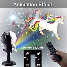 Рождественский лазерный проектор (анимация)  музыкальный с пультом ДУ , фото 2