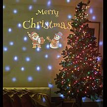 Рождественский лазерный проектор (анимация)  музыкальный с пультом ДУ , фото 3