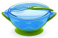 Набор для кормления дорожный Nuvita  6м+ голубой