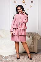 Платье женское рубашка многослойное, фото 1