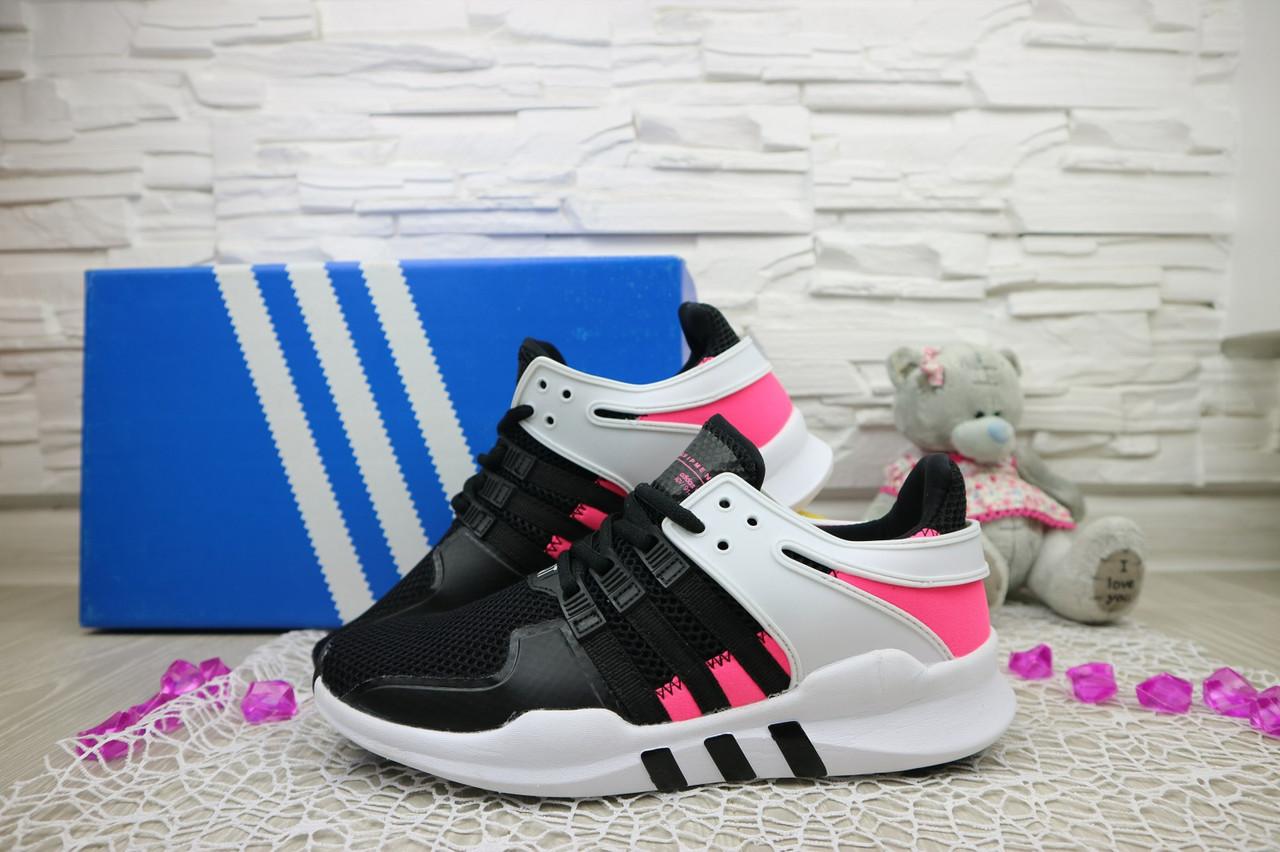 Кроссовки Adidas Equipment  (лето,  сетка плотная, черный)