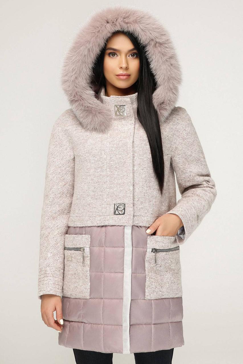 Молодіжне зимове пальто з натуральним хутром песця  продажа 91af8ccec2ebf