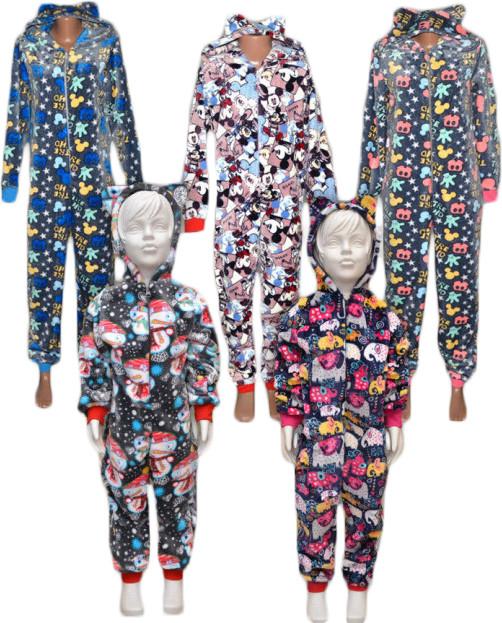 Пижама кигуруми (комбинезон) махровая детская, подростковая 01242 Gulliver, р.р.36-38