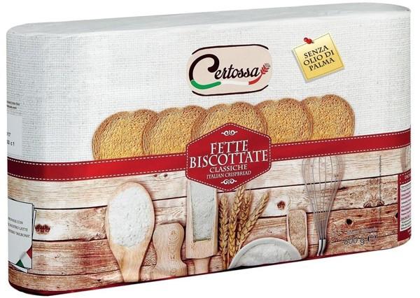 Хлебцы - сухарики круглые для завтрака Fette Biscottate Certossa Италия, 600 г.