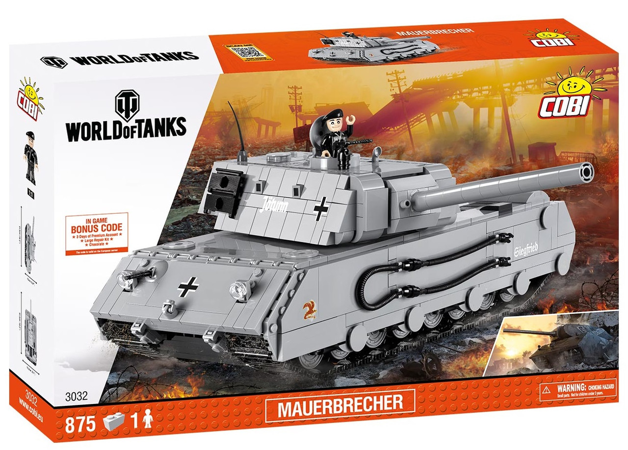 Конструктор Танк Mauerbrecher COBI World Of Tanks (COBI-3032)