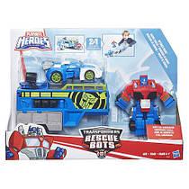 Трансформеры спасатели гоночный комплект Transformers Rescue Bots Optimus Prime Racing Trailer and Blur