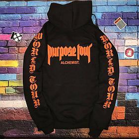 Худи Purpose The World Tour STAFF Black • Черная толстовка • Все размеры • Топ качество