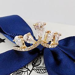"""Кольцо Xuping Jewelry """"Каролина"""", размер 19 , медицинское золото, позолота 18К. А/В 1792"""