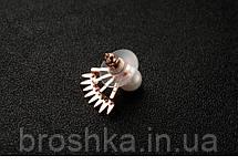 Позолоченные серьги джекеты веер под мочкой ушка, фото 2