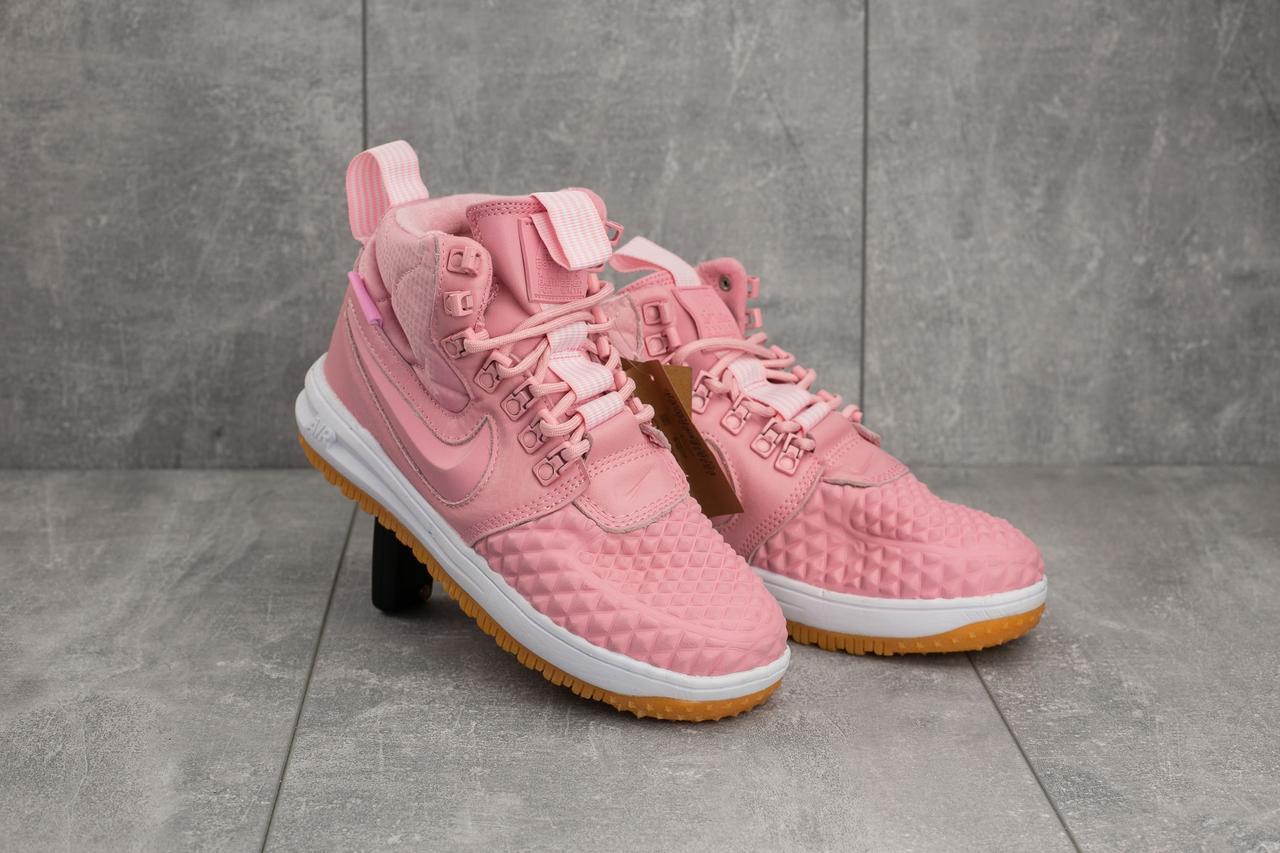Кроссовки Nike AF-1 (весна-осень, кожа прессованая, розовый)