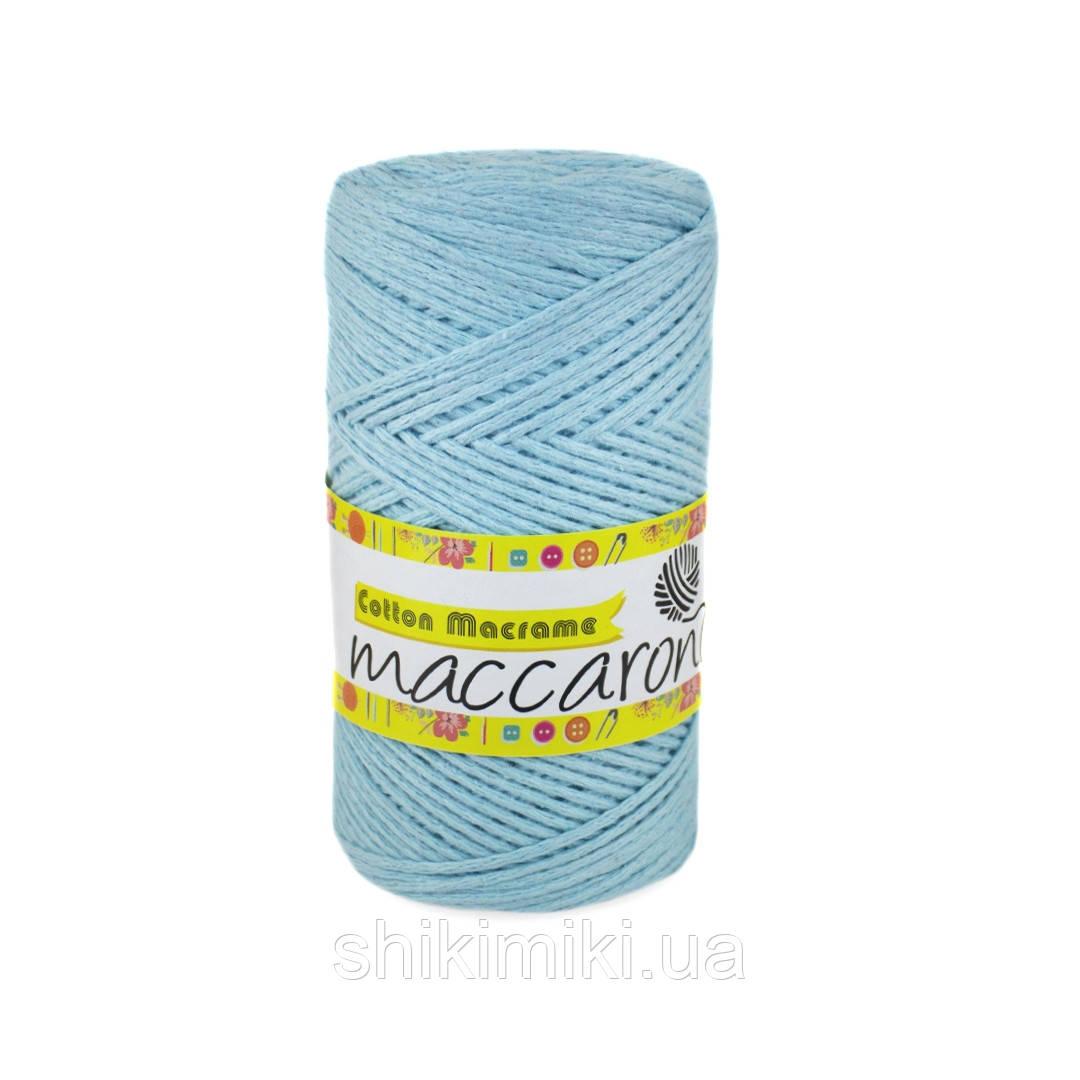 Эко Шнур Cotton Macrame, цвет Голубой