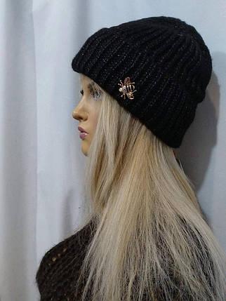 Шапка женская Бонита Дэнс    FLIRT  черный 1181, фото 2
