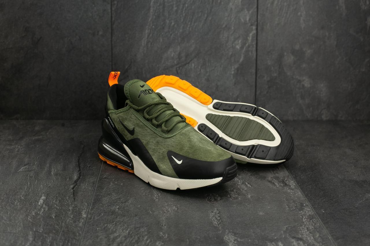 3c3c5679 Кроссовки Nike Air 270 (весна-осень, искуственный замш, хаки ...