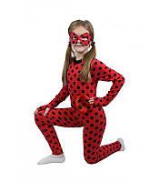 Детский карнавальный костюм ЛЕДИ БАГ, ГЕРОИ В МАСКАХ для девочки 4,5,6,7,8 лет