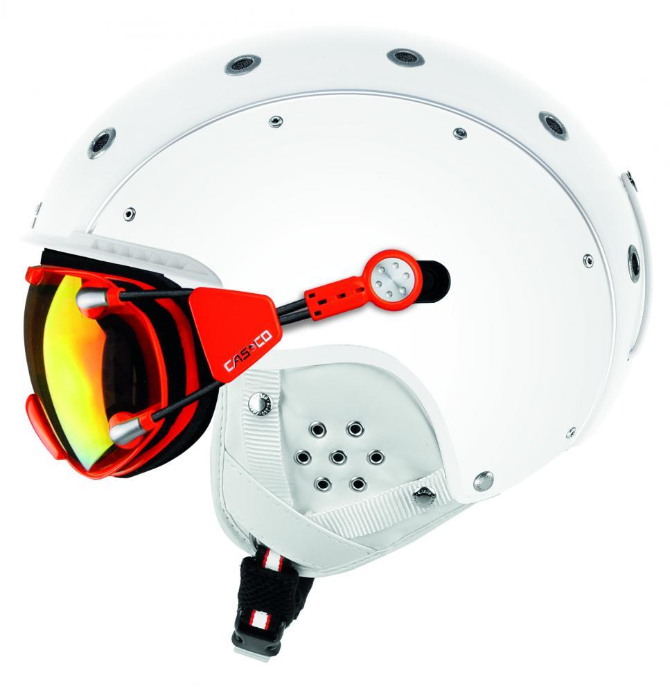 Гірськолижний шолом з визором Casco sp-6 visier silver vautron (MD)