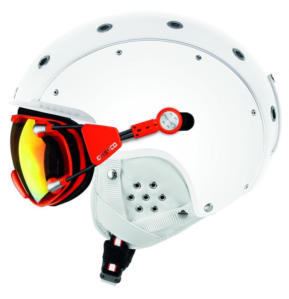 Горнолыжный шлем с визором Casco sp-6 visier silver vautron, 54-58 58-62 (MD)