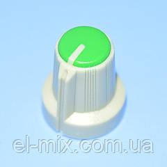 Ручка для потенциометра  AG-1 под звездочку d6мм св.серо-зеленая,  Китай