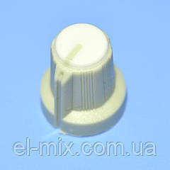 Ручка для потенциометра  AG-1 под звездочку d6мм св.серо-белая,  Китай