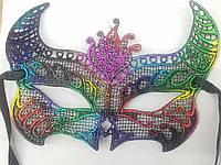 Маскарадные и карнавальные маски. Ажурные, венецианские маски оптом 29