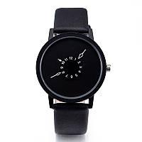 Наручные часы, Полностью черный, Унисекс, фото 1